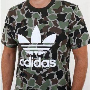 Adidas Original Camo Trefoil Tee Shirt!